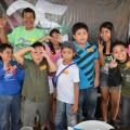 農家のマカオ産と子どもたちの交流