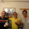 今回来日した3人(左からジェイムスさん、パオロさん、ビクターさん)