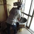 コーヒー豆の焙煎中。